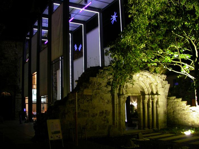Whispering Pillars - Frauenberg-Kirche at night