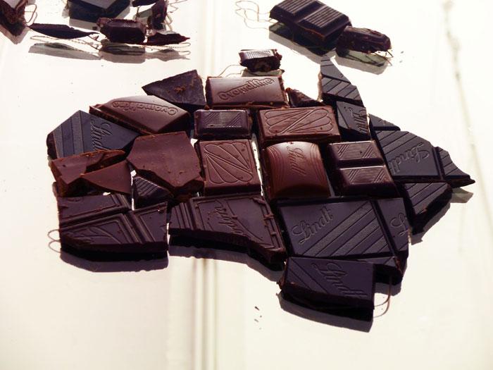 Chocolate World Map - Australia