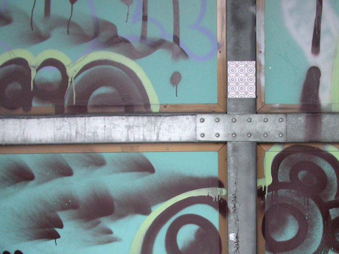 Wallpaper at bus-stop